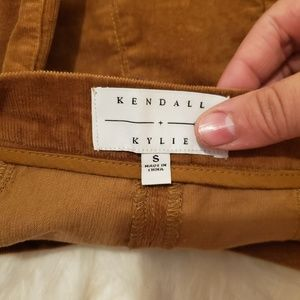 Kendall & Kylie Skirts - Kendall & Kylie ButtonFront Corduroy Scallop Skirt